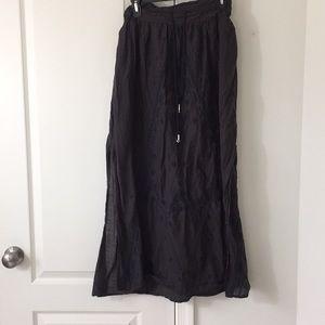 American Eagle Boho Gray Maxi Skirt
